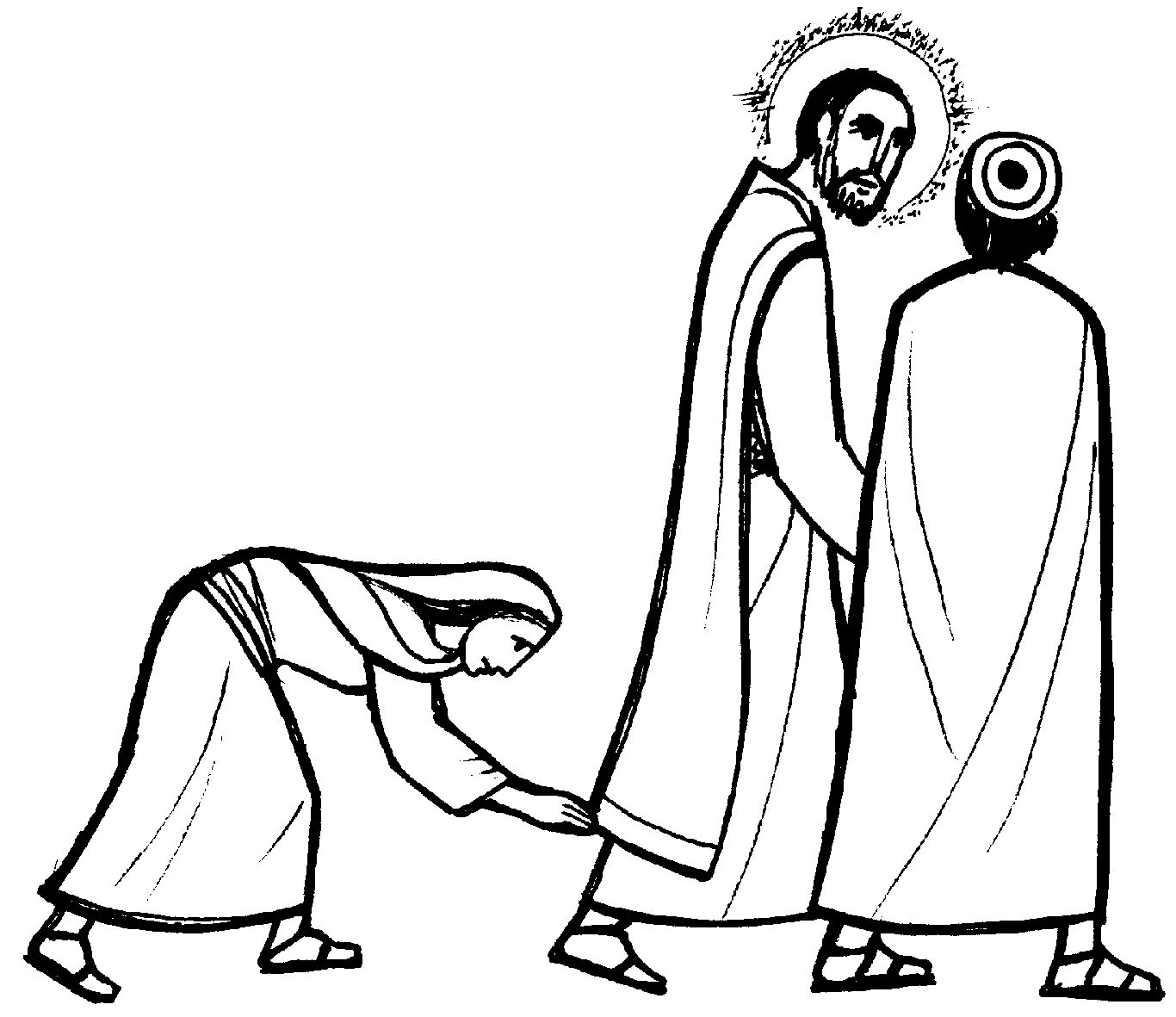 Free coloring pages of daughter of jairus for Jesus heals jairus daughter coloring page
