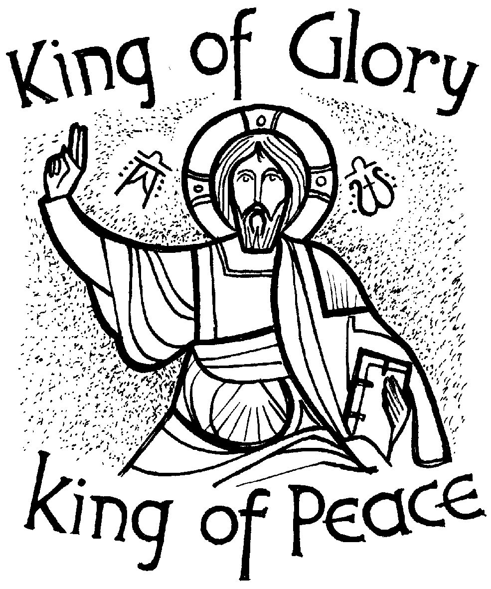 christ the king coloring page - stcuthbert s catholic church in edinburgh